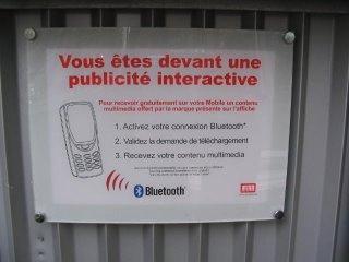 publicité interactive